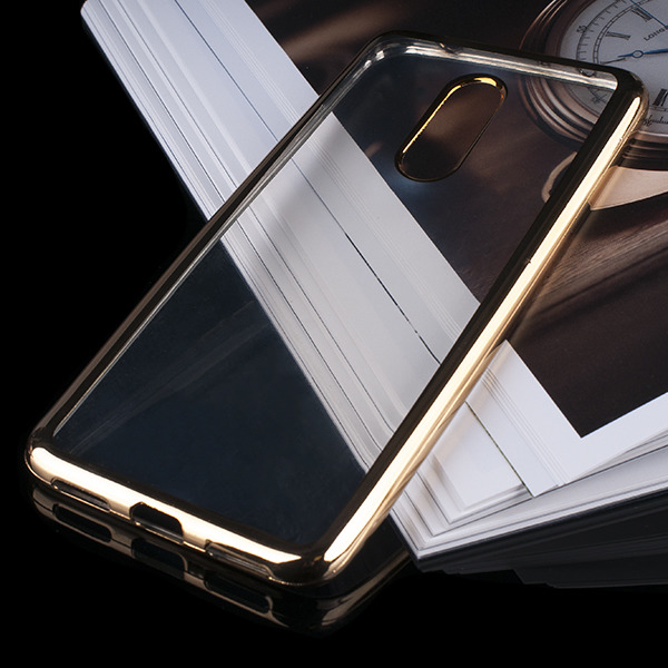 new style aea12 a46a7 BACK CASE COVER GEL BUMPER TPU RUBBER JELLY HUAWEI P SMART GOLD