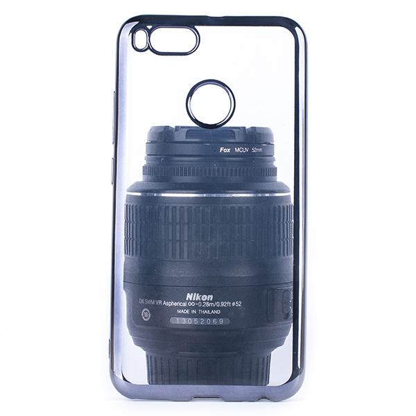 new product 89aa0 f4c93 BACK CASE COVER GEL BUMPER TPU RUBBER JELLY XIAOMI MIA1 / MI A1 BLACK