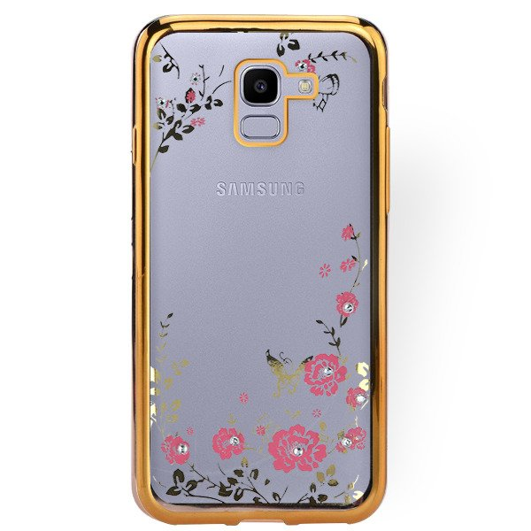 san francisco a9867 58956 BACK CASE COVER GEL DIAMENTE SAMSUNG GALAXY J6 2018 SM-J600 GOLD