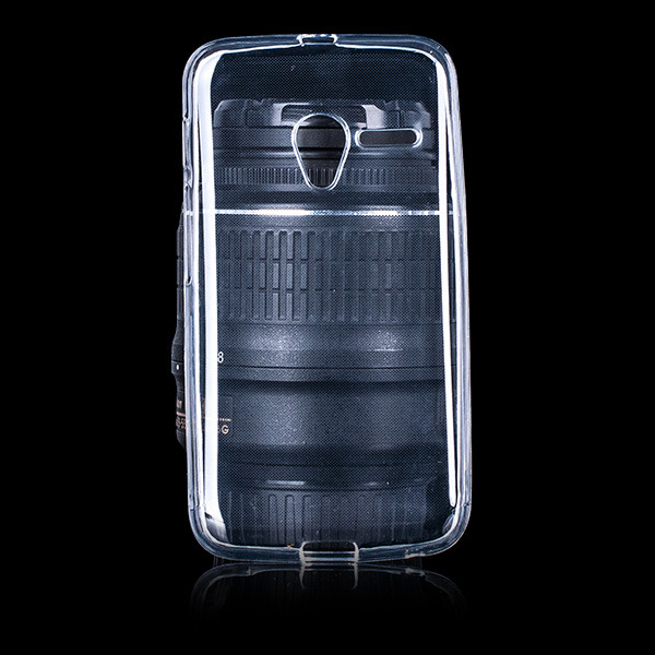 BACK CASE COVER GEL RUBBER JELLY ALCATEL PIXI 3 4.0 TRANSPARENT