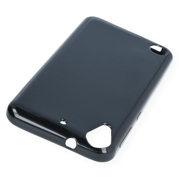 super popular 9d2ce c8f76 BACK CASE COVER GEL RUBBER JELLY HTC DESIRE 530 BLACK