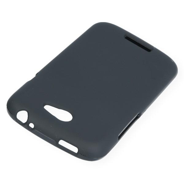 Back Case Cover Gel Rubber Jelly Htc One S Black 41692 Vegacom
