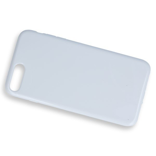 BACK CASE COVER GEL RUBBER JELLY IPHONE 7 PLUS WHITE