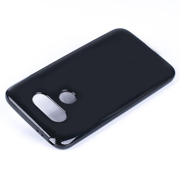 wholesale dealer 85841 f8475 BACK CASE COVER GEL RUBBER JELLY LG G5 / G5 SE BLACK