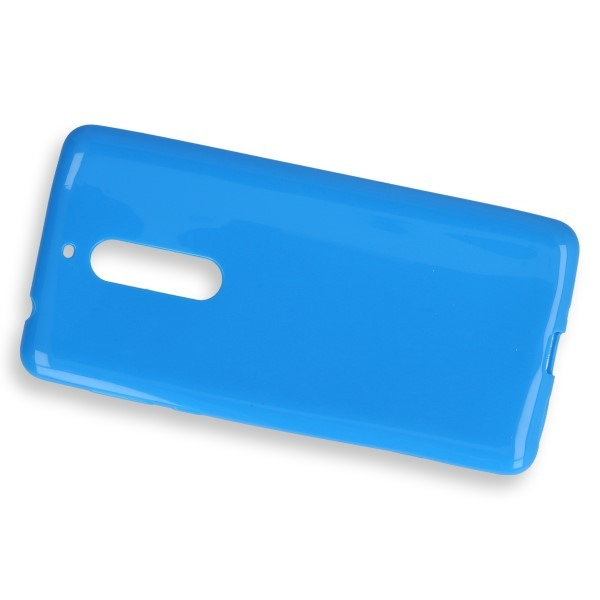 BACK CASE COVER GEL RUBBER JELLY NOKIA 5 BLUE