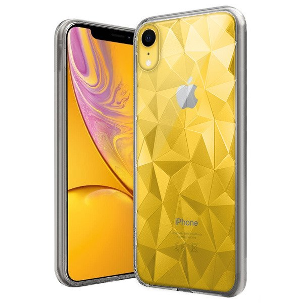 premium selection a65ce c9d48 BACK CASE COVER GEL RUBBER JELLY ORIGAMI IPHONE XR TRANSPARENT
