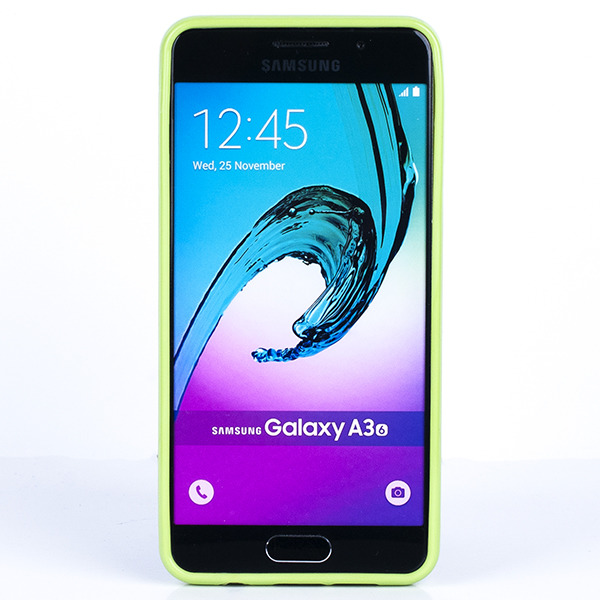 the latest f5f12 77372 BACK CASE COVER GEL RUBBER JELLY SAMSUNG GALAXY A3 2016 SM-A310 GREEN