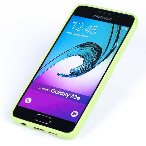the latest da2e2 f0564 BACK CASE COVER GEL RUBBER JELLY SAMSUNG GALAXY A3 2016 SM-A310 GREEN