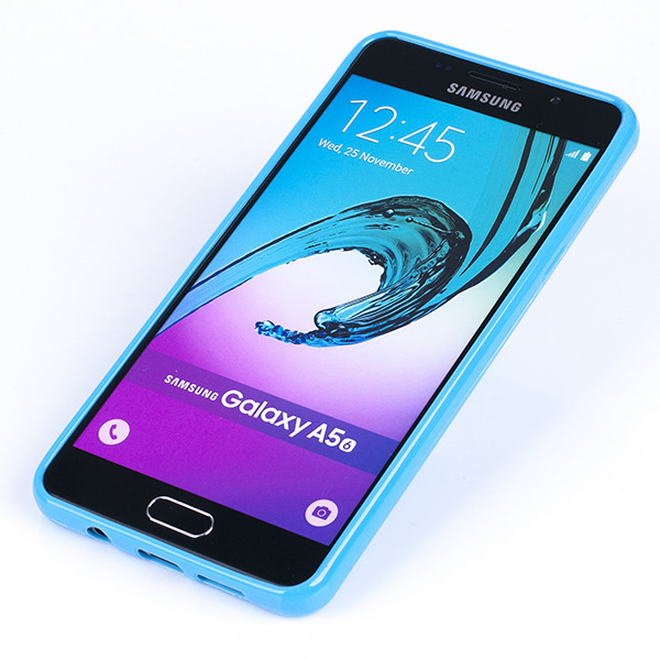 size 40 026d5 14256 BACK CASE COVER GEL RUBBER JELLY SAMSUNG GALAXY A5 2016 SM-A510 BLUE