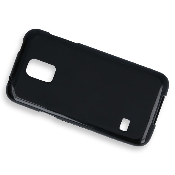 BACK CASE COVER GEL RUBBER JELLY SAMSUNG GALAXY S5 MINI SM-G800 BLACK