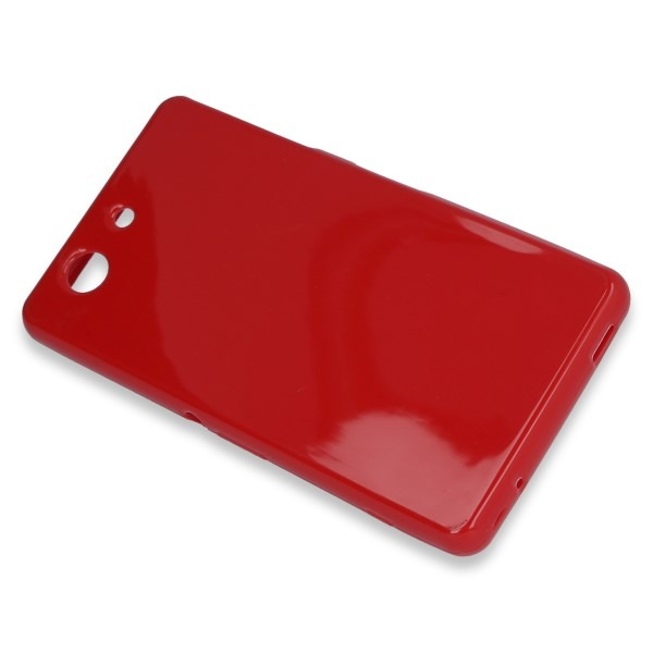 top fashion e7b78 c623a BACK CASE COVER GEL RUBBER JELLY SONY XPERIA Z3 COMPACT RED