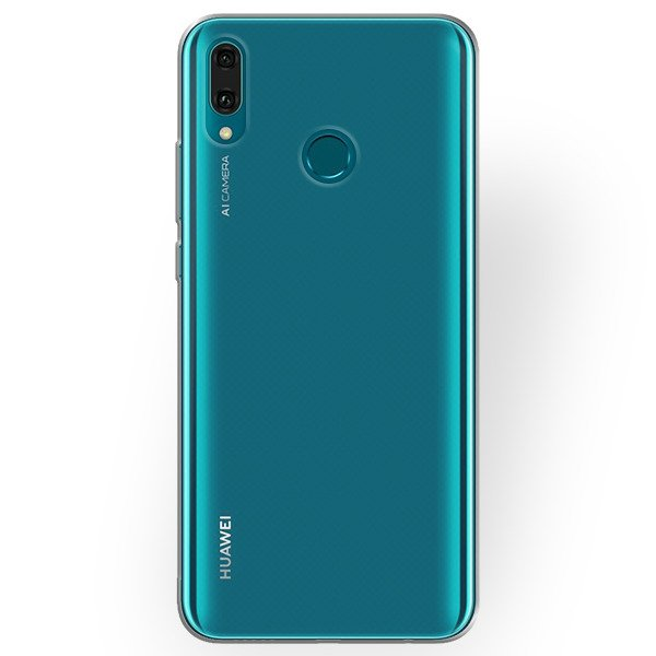 huge selection of dd37c b2c2e CASE COVER GEL RUBBER TPU JELLY HUAWEI Y9 2019 TRANSPARENT + GLAS