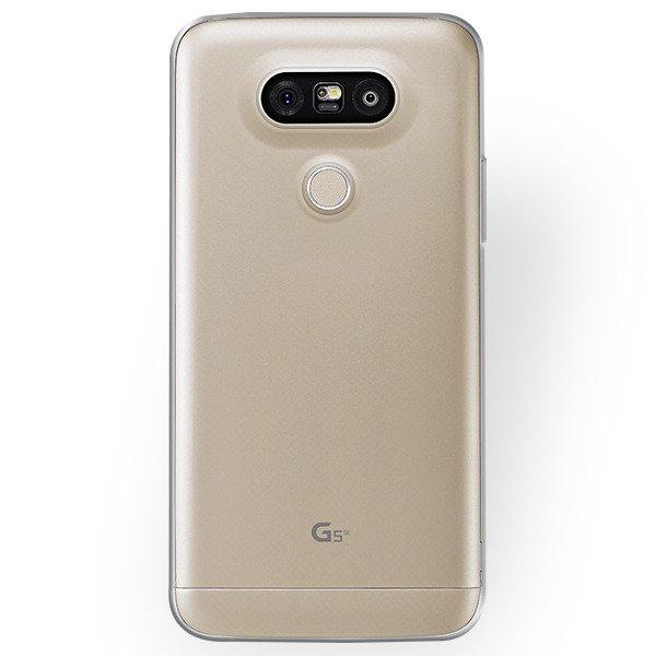 super popular 8f475 b5662 BACK CASE COVER GEL RUBBER TPU JELLY LG G5 / G5 SE TRANSPARENT