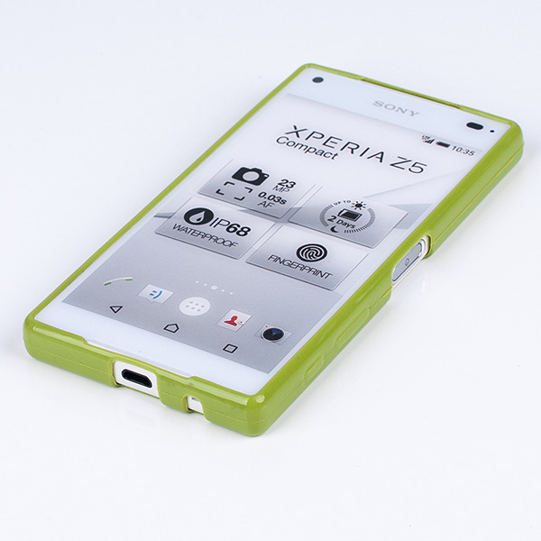 buy popular 0416f edc0c BACK CASE COVER GEL RUBBER TPU JELLY SONY XPERIA Z5 COMPACT GREEN