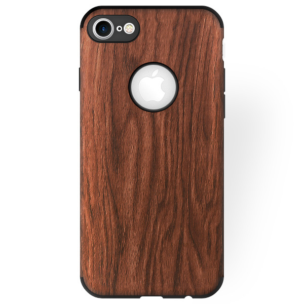 BACK CASE COVER GEL TIMBER TEXTURE IPHONE 7 4.7