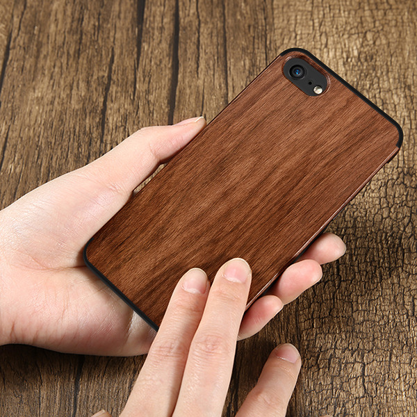 BACK CASE COVER GEL TIMBER TEXTURE IPHONE 7 PLUS + GLASS 9H