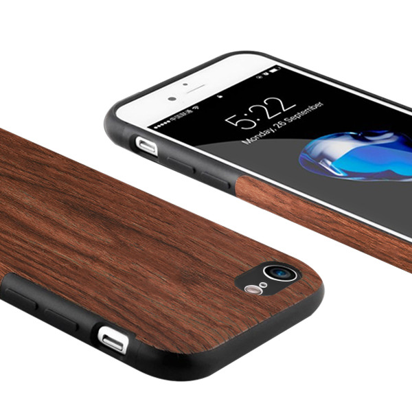 BACK CASE COVER GEL TIMBER TEXTURE IPHONE 8 PLUS + GLASS 9H