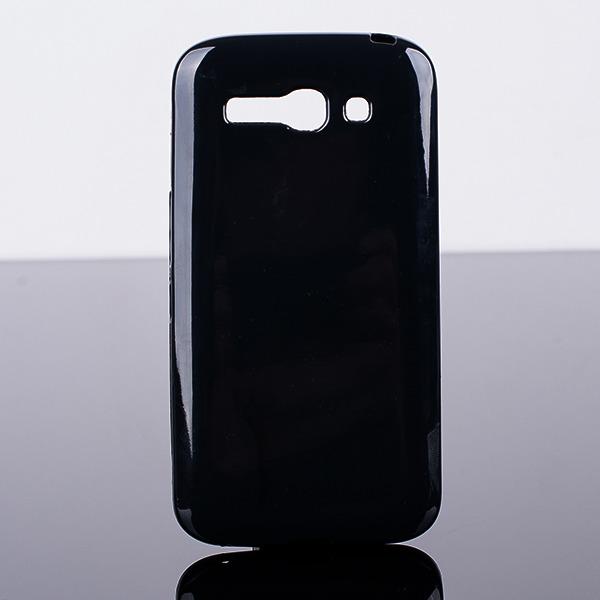 designer fashion 7f69a 095b0 BACK CASE COVER GEL TPU JELLY ALCATEL ONE TOUCH POP C9 7047D BLACK