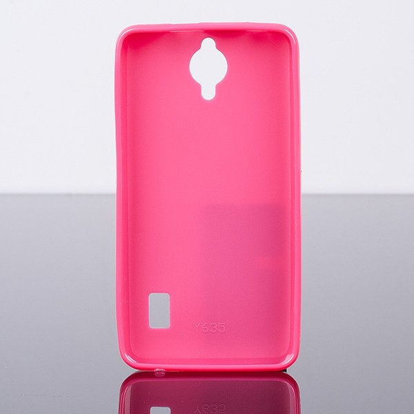 BACK CASE COVER GEL TPU JELLY HUAWEI ASCEND Y635 PINK