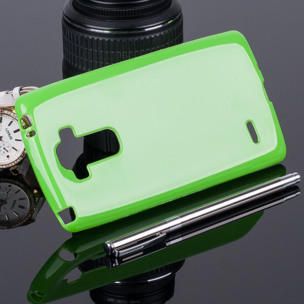 the latest 24c32 8d19b BACK CASE COVER GEL TPU JELLY LG G4 STYLUS GREEN