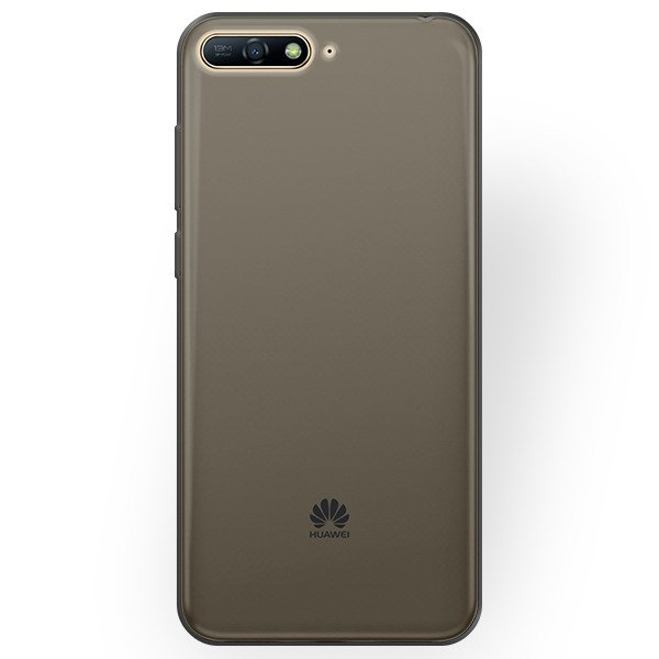 info for 7501b 679d3 BACK CASE COVER HUAWEI Y6 2018 Ultra slim 0.3mm BLACK