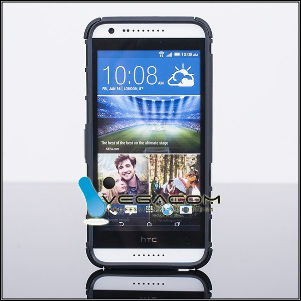 BACK CASE COVER HYBRID CASE HARD HTC DESIRE 620 BLACK