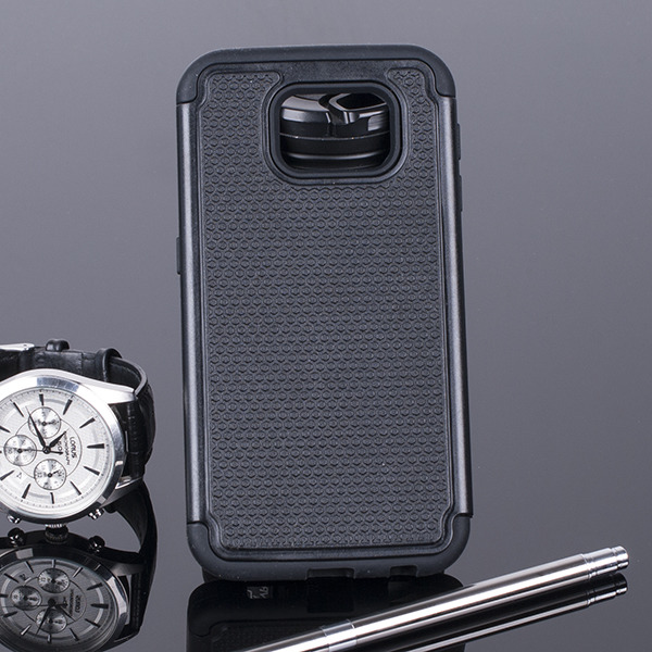 BACK CASE COVER HYBRID CASE HARD SAMSUNG GALAXY S6 SM-G920 BLACK