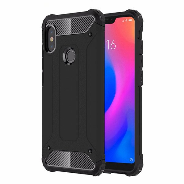cheap for discount c30f3 00313 BACK CASE COVER HYBRID SHIELD HARD XIAOMI MIA2 LITE / MI A2 LITE BLACK