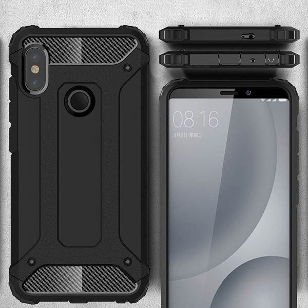promo code 73984 80a63 BACK CASE COVER HYBRID SHIELD HARD XIAOMI REDMI NOTE 5 BLACK