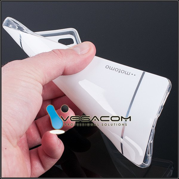 BACK CASE COVER MOTOMO TPU GEL RUBBER HUAWEI ASCEND P8 WHITE