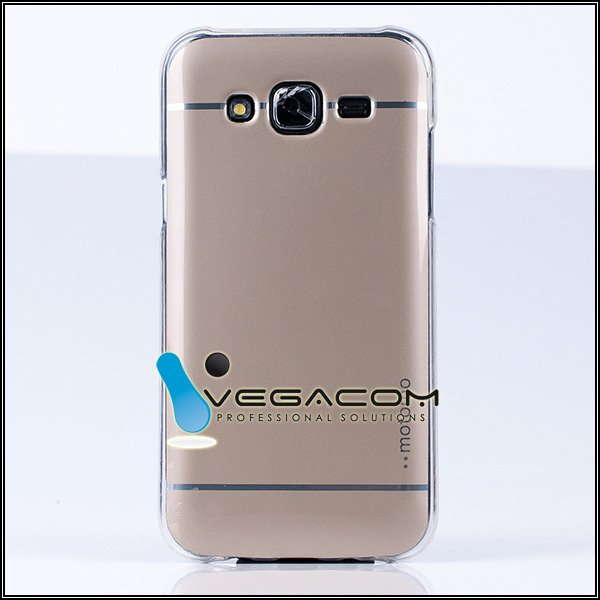 BACK CASE COVER MOTOMO TPU GEL RUBBER SAMSUNG GALAXY J5 SM-J500 GOLD
