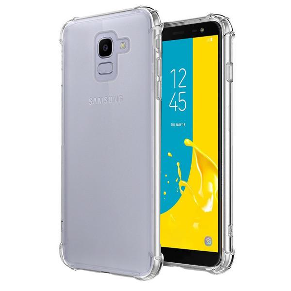 super popular 5ea15 be0d5 BACK CASE SAMSUNG GALAXY J6 2018 SM-J600 SHOCK TRANSPARENT + GLASS