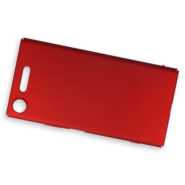 save off bf038 b6315 BACK CASE COVER SLIM ARMOR HARD SONY XPERIA XZ1 RED