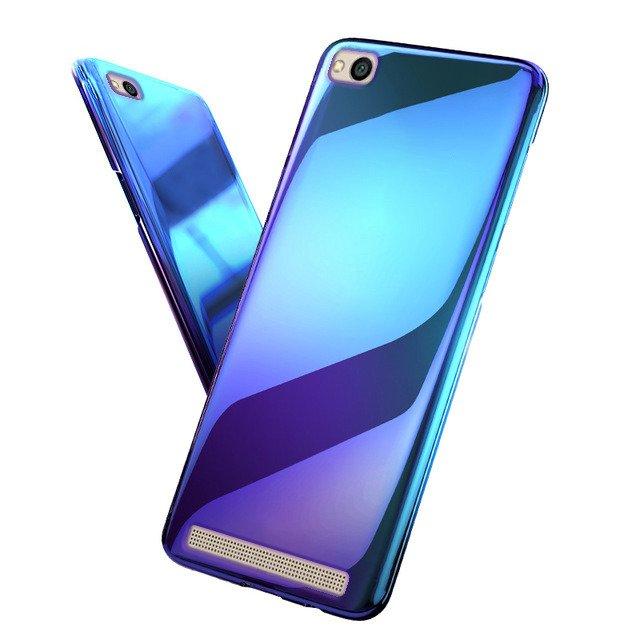 competitive price ba4d3 ce959 BACK CASE COVER SLIM AURORA GEL SILICON XIAOMI REDMI 5A BLUE +GLASS 9H