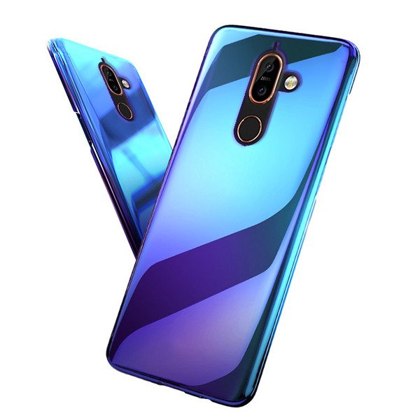 competitive price c6d88 c0967 BACK CASE COVER SLIM BLUERAY BLUE-RAY HARD NOKIA 7 PLUS BLUE