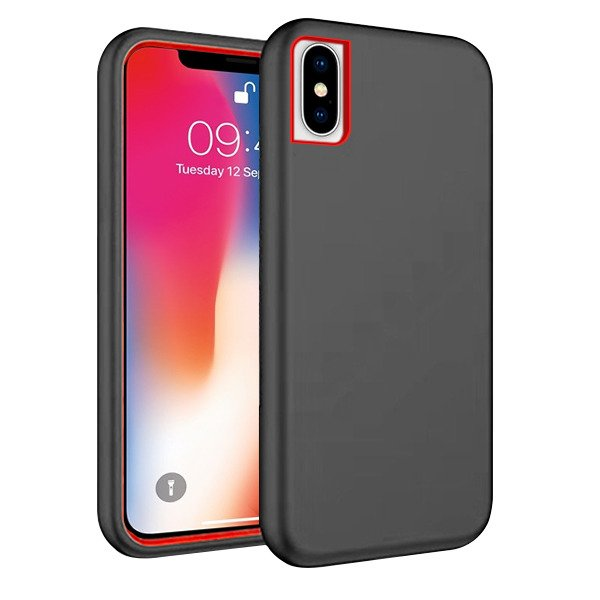 more photos c7d05 3bba0 BACK CASE COVER SOLID CASE HARD IPHONE X BLACK
