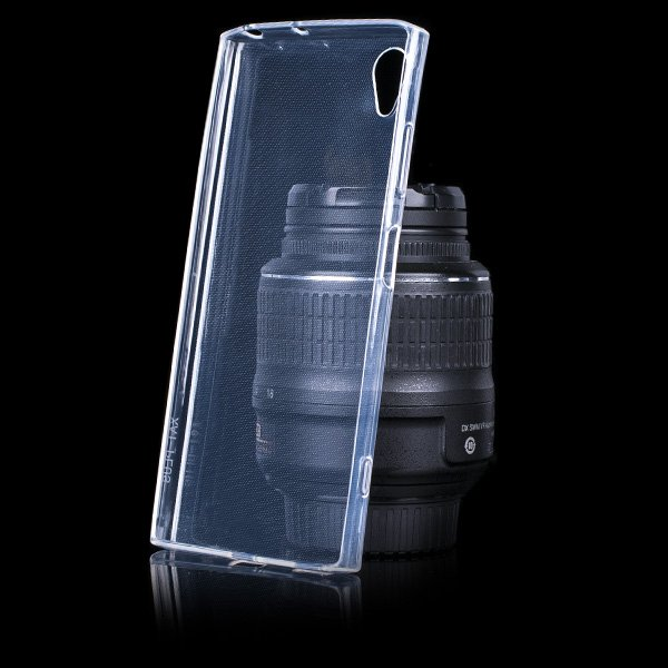 new product dd6b5 66c51 BACK CASE COVER SONY XPERIA XA1 PLUS Ultra slim 0.3mm TRANSPARENT