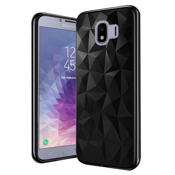 new arrivals 75ebd 46021 BACK CASE GEL RUBBER JELLY ORIGAMI SAMSUNG GALAXY J4 2018 J400 BLACK