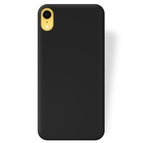 new arrival 3b032 85e83 BACK CASE MAT COVER GEL RUBBER JELLY IPHONE XR BLACK