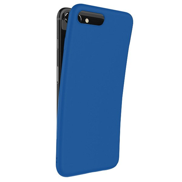 newest collection e1aa2 35a1e BACK CASE MAT COVER GEL RUBBER JELLY LG K10 2018 BLUE