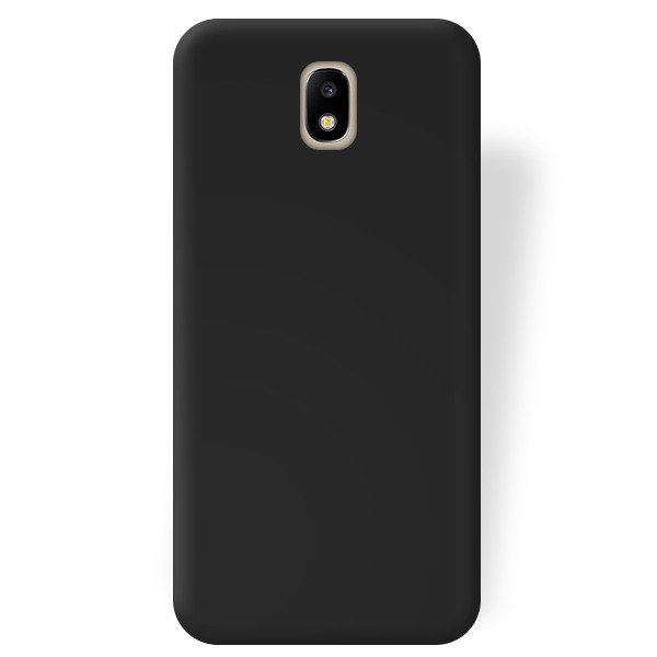 BACK CASE MAT GEL RUBBER JELLY SAMSUNG GALAXY J7 2017 J730 BLACK GLASS