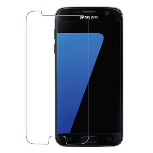 BACK CASE MAT GEL RUBBER JELLY SAMSUNG GALAXY S7 SM-G930 BLACK + GLASS