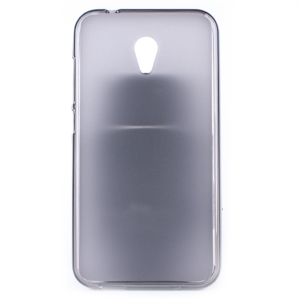 online store c97d7 ce1b0 BACK CASE MATT COVER GEL RUBBER JELLY ALCATEL U5 3G BLACK