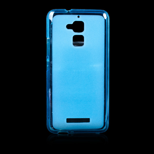 quality design 4ea38 76e6f BACK CASE MATT COVER GEL RUBBER JELLY ASUS ZENFONE 3 MAX ZC520TL BLUE