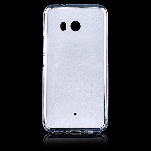 BACK CASE MATT COVER GEL RUBBER JELLY HTC U11 / U 11 TRANSPARENT