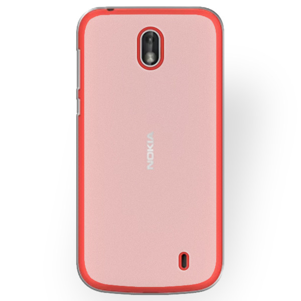 new product 7292d 51aad BACK CASE MATT COVER GEL RUBBER JELLY NOKIA 1 TRANSPARENT