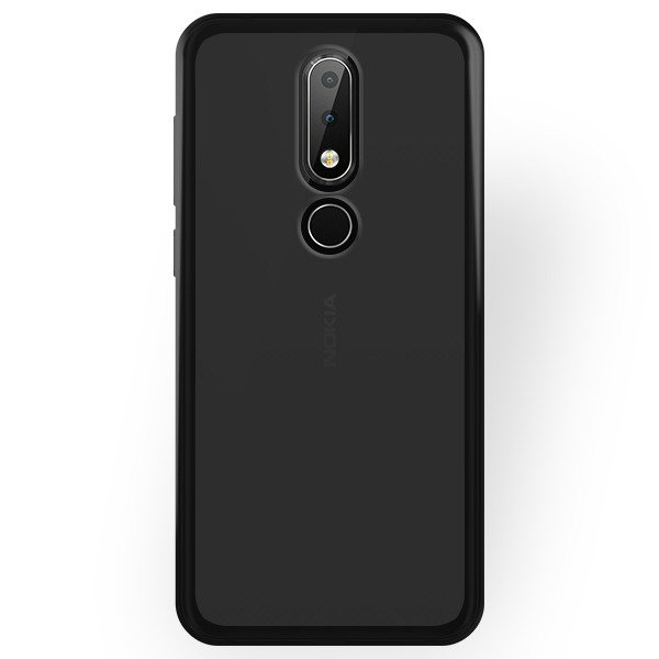 pretty nice c6cba 8a2dc BACK CASE MATT COVER GEL RUBBER JELLY NOKIA 6.1 PLUS BLACK 98595 ...