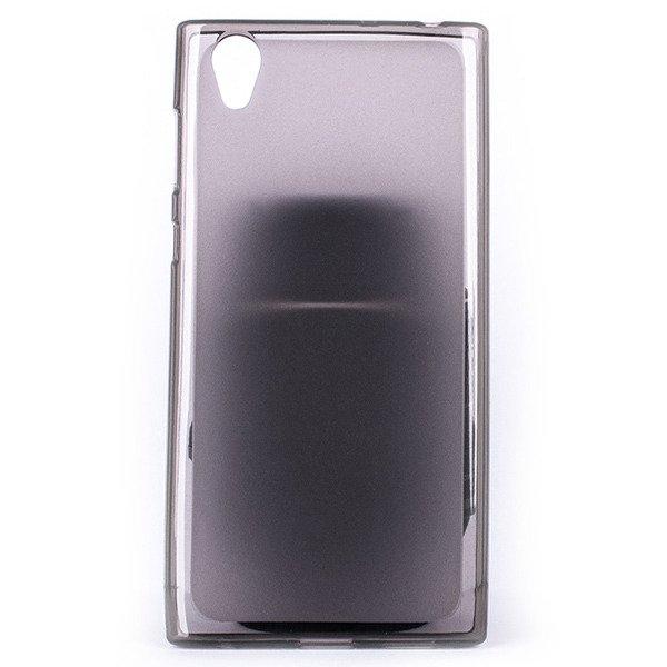 low priced f4fdb 1017f BACK CASE MATT COVER GEL RUBBER JELLY SONY XPERIA L1 BLACK