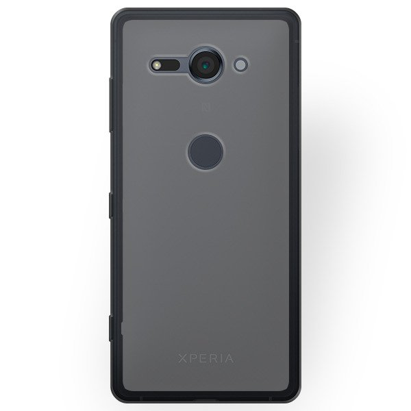 promo code 70727 54a7d BACK CASE MATT COVER GEL RUBBER JELLY SONY XPERIA XZ2 COMPACT BLACK