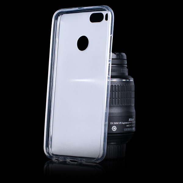 official photos e93dc ebe9e BACK CASE MATT COVER GEL RUBBER JELLY XIAOMI MIA1 / MI A1 TRANSPARENT